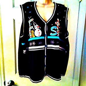 ⛄ HOLIDAY 26 W-28 W 4X cardigan sweater vest